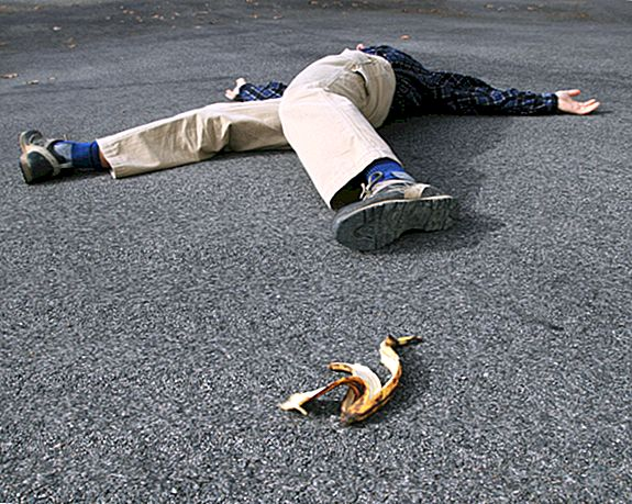"Podrijetlo ""Slipping on a Banana Peel"" Komedija Gag"