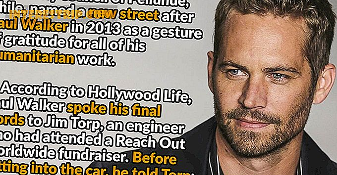 24 Snabba fakta om Paul Walker